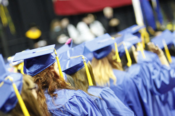Students line up for CSN graduation ceremony
