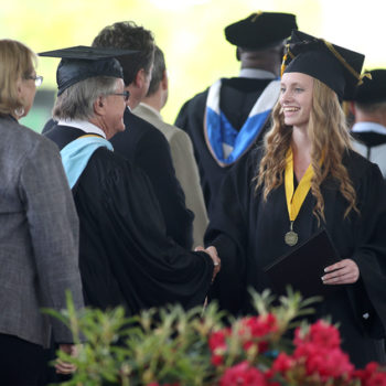Superintendents congratulate Jump Start graduates during the 45th annual Western Nevada College Commencement ceremony