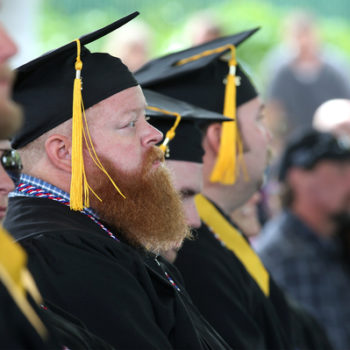 Graduates listen to the 45th annual Western Nevada College Commencement ceremony