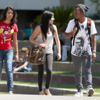 Students on the UNLV campus during the first day of the fall sememster