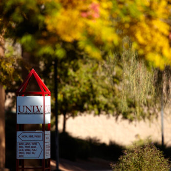 Students around campus at UNLV on November 26, 2012