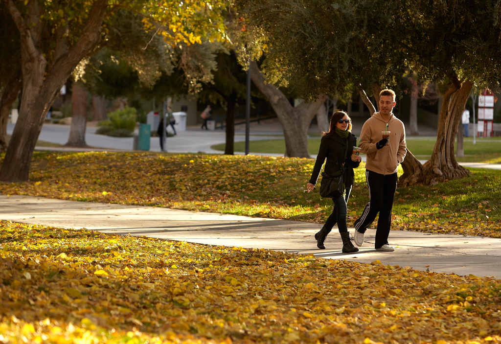 Students on campus at UNLV