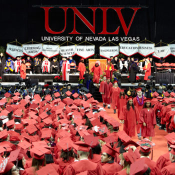 Fall commencement at the Thomas & Mack Center on December 18, 2012.