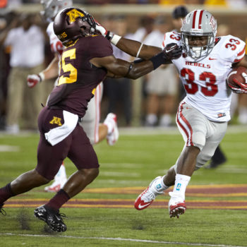Shaquille Murray-Lawrence. UNLV football vs. Minnesota at TCF Bank Stadium