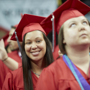 UNLV 2016 Spring Commencement ceremonies, at Thomas and Mack