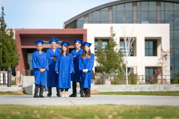 Graduates on campus at Truckee Meadows Community College