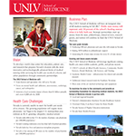 More Doctors for Nevada - UNLV School of Medicine