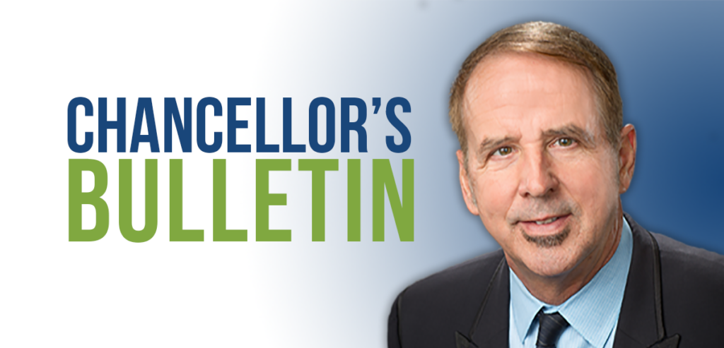 Chancellor's Bulletin by Dr. Thom Reilly