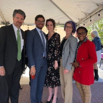 Assemblyman Watts (second from left) and Assemblywoman Peters (second from right) pictured with Dr. Kyle Dalpe and Joi Holliday, NSHE and Carolyn Turner, Fennemore Craig.