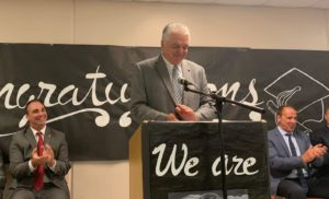 Governor Sisolak speaking at Prison Education Program graduation
