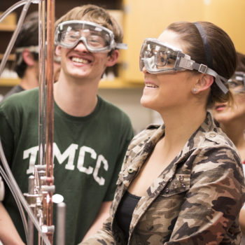 Students work on a chemistry lab at TMCC