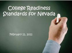 College Readiness Standards for Nevada