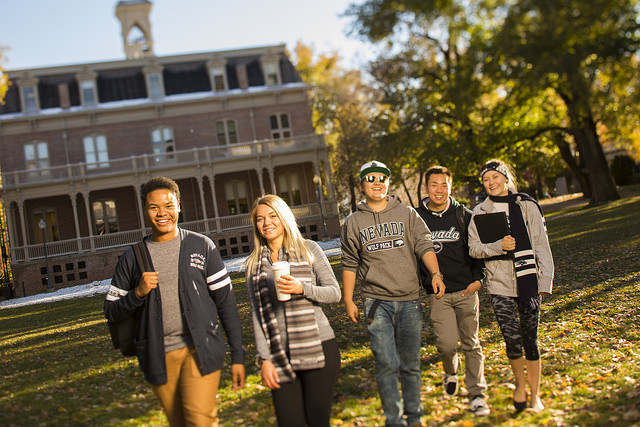 Students on campus at UNR