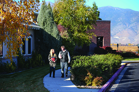 Students on the Douglas campus of Western Nevada College