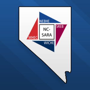 Outline of the State of Nevada with the NC-SARA logo