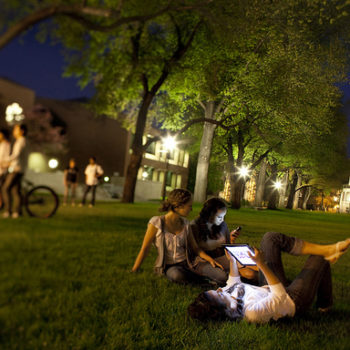 UNR students study at night