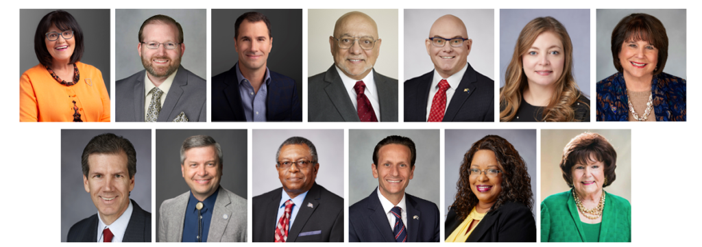 A collage of profile images for The Board of Regents