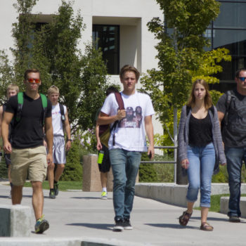 Students on campus at TMCC