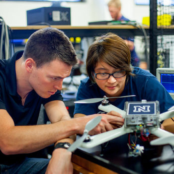 Students work on unmanned aerial systems at UNR