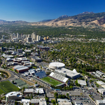 The campus of the University of Nevada, Reno